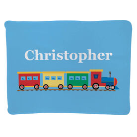 Personalized Baby Blanket - Train