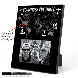 Photo Frame - Countries I've Hiked Outline