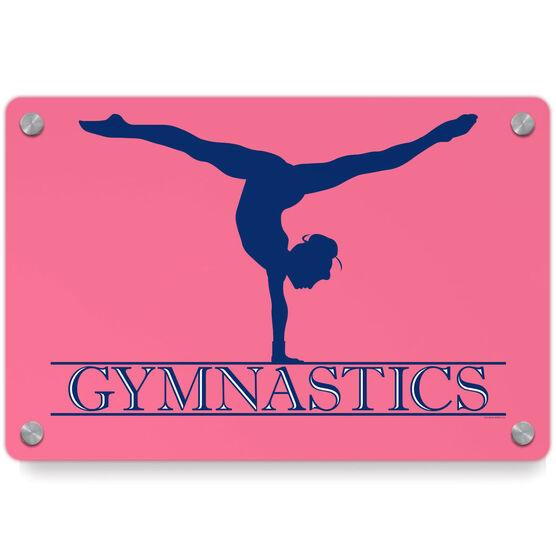 Gymnastics Metal Wall Art Panel - Crest