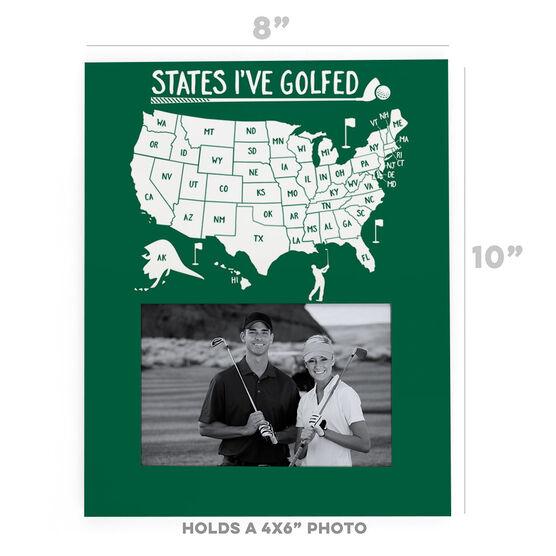 Golf Photo Frame - States I've Golfed