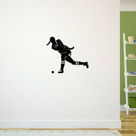 Field Hockey Girl Shooting Removable ChalkTalkGraphix Wall Decal