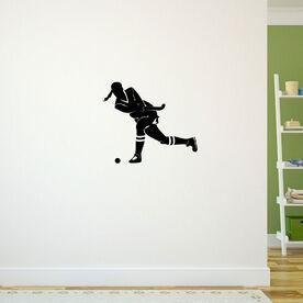 Field Hockey Girl Shooting Removable ChalkTalkGraphix Wall Decal