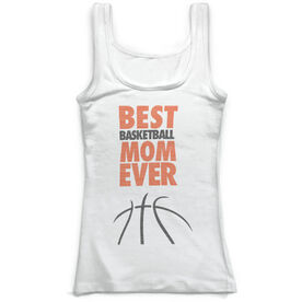 Basketball Vintage Fitted Tank Top - Best Mom Ever
