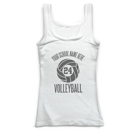 Volleyball Vintage Fitted Tank Top - Personalized Team
