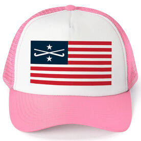 Field Hockey Trucker Hat - American Flag