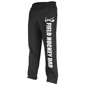 Field Hockey Fleece Sweatpants Field Hockey Dad With Sticks