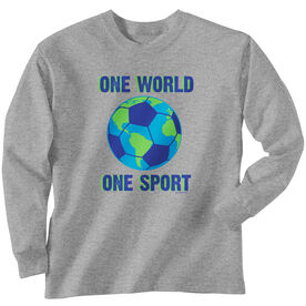 Soccer Tshirt Long Sleeve One World One Sport