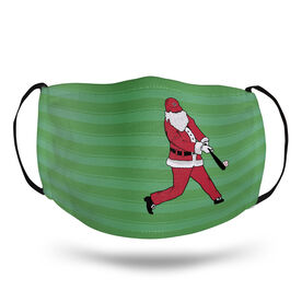Baseball Face Mask - Home Run Santa