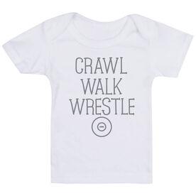 Wrestling Baby T-Shirt - Crawl Walk Wrestle