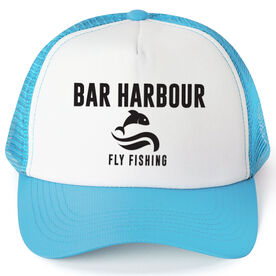 Fly Fishing Trucker Hat - Team Name With Text