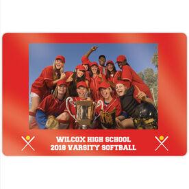 "Softball 18"" X 12"" Aluminum Room Sign - Team Photo"