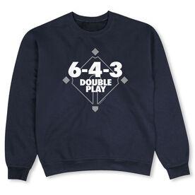 Baseball Crew Neck Sweatshirt - 6 4 3 Double Play
