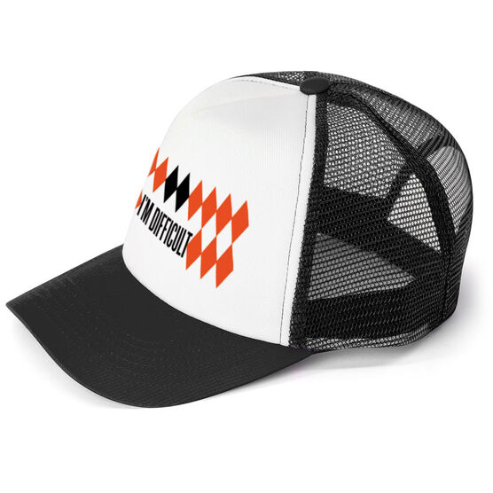 Skiing and Snowboarding Trucker Hat - I'm Difficult