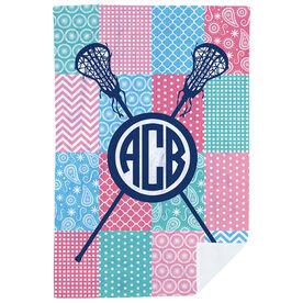 Girls Lacrosse Premium Blanket - Lax Quilt Monogram