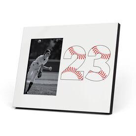 Baseball Photo Frame - Number Stitches