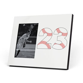 Baseball Photo Frame - Number Stitches