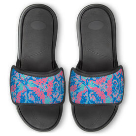 Personalized Repwell® Slide Sandals - Floral Pattern