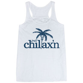Lacrosse Flowy Racerback Tank Top - Just Chillax'n