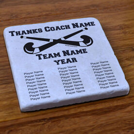 Field Hockey Stone Coaster Thanks Coach With Team Roster
