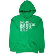 Soccer Hooded Sweatshirt - Eat Sleep Take The Kids To Soccer