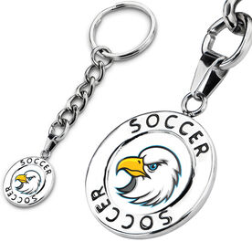Soccer Circle Keychain Your Logo