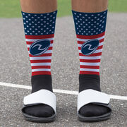 Rugby Printed Mid-Calf Socks - USA Stars and Stripes