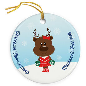 Cheerleading Porcelain Ornament Reindeer Cheer