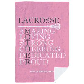 Girls Lacrosse Premium Blanket - Mother Words