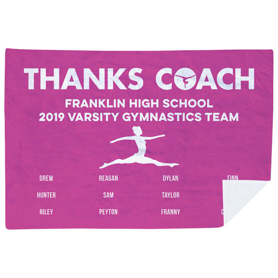 Gymnastics Premium Blanket - Thanks Coach (Horizontal)