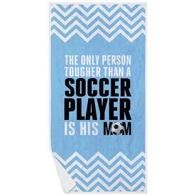 Soccer Premium Beach Towel - Tougher Than A Soccer Player