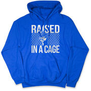 Baseball Hooded Sweatshirt - Raised In a Cage