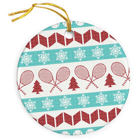 Tennis Porcelain Ornament Ugly Sweater