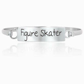 Figure Skating Engraved Clasp Bracelet Figure Skater