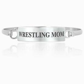 Wrestling Engraved Clasp Bracelet - Mom (Text)
