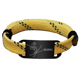 Skiing Lace Bracelet Skier with Skiing Adjustable Sport Lace Bracelet
