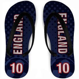 Soccer Flip Flops England