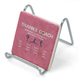 Figure Skating Stone Coaster - Thanks Coach Roster