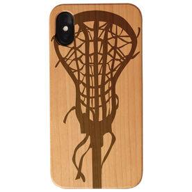 Girls Lacrosse Engraved Wood IPhone® Case - Lacrosse Stick Head