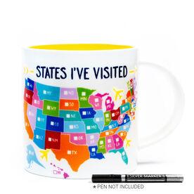 Soleil Home™ Porcelain Mug - States I've Visited