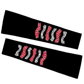 Running Printed Arm Sleeves - Courage To Start Tattoo