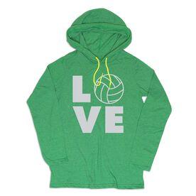 Women's Volleyball Lightweight Hoodie - Volleyball Love