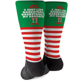 Basketball Printed Mid-Calf Socks - Basketball's My Favorite