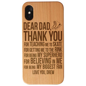 Figure Skating Engraved Wood IPhone® Case - Dear Dad