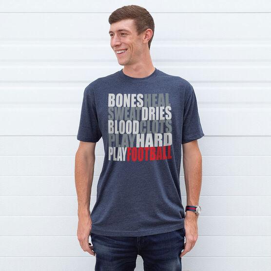 Football Tshirt Short Sleeve Bones Saying