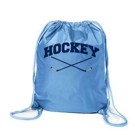 Hockey Crossed Sticks Sport Pack Cinch Sack