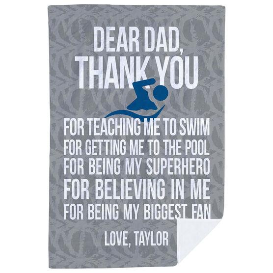 Swimming Premium Blanket - Dear Dad