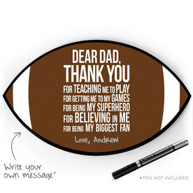 Football Plaque - Dear Dad