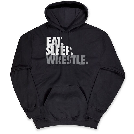 Wrestling Hooded Sweatshirt - Eat Sleep Wrestle (Stack)