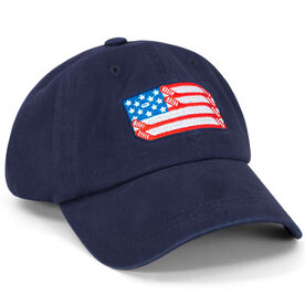 Hockey Flag Hat - Navy Blue