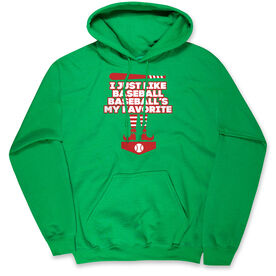 Baseball Hooded Sweatshirt - Baseball's My Favorite